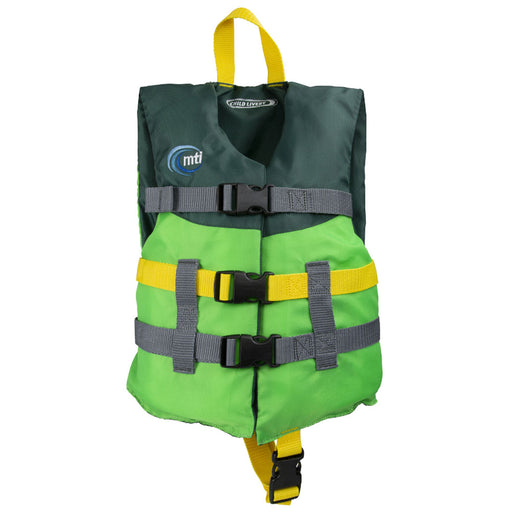 MTI Child Livery Kid's Life Jacket PFD Green Front