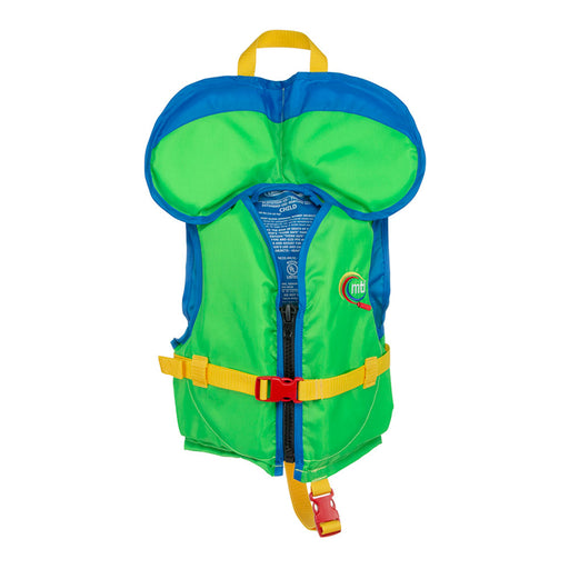 MTI Child w/ Collar Kid's Life Jacket PFD green front