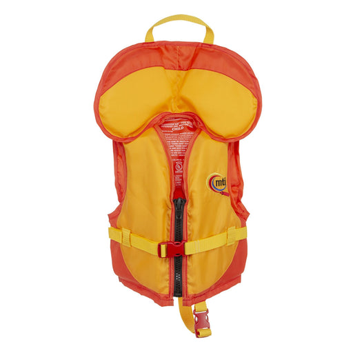 MTI Child w/ Collar Kid's Life Jacket PFD Orange front