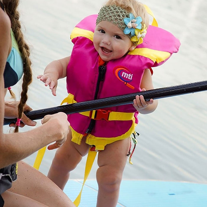 MTI Infant w/ Collar Kid's Life Jacket PFD action 2