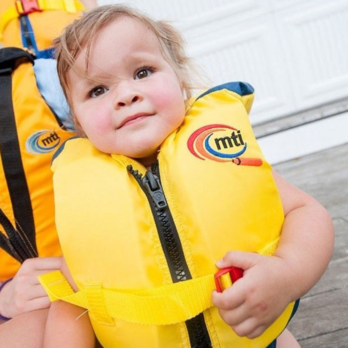 MTI Infant w/ Collar Kid's Life Jacket PFD action 1