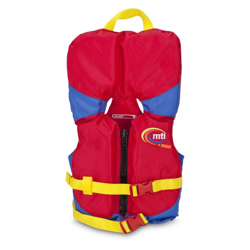 MTI Infant w/ Collar Kid's Life Jacket PFD Red front