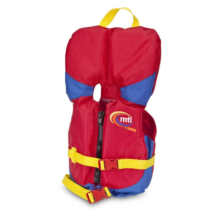 MTI Infant w/ Collar Kid's Life Jacket PFD Red side