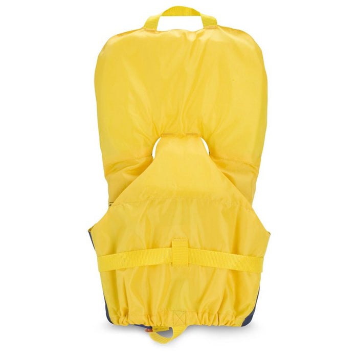 MTI Infant w/ Collar Kid's Life Jacket PFD Yellow back