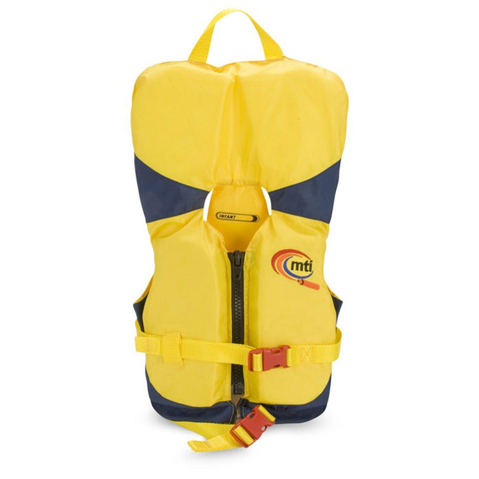 MTI Infant w/ Collar Kid's Life Jacket PFD Yellow front