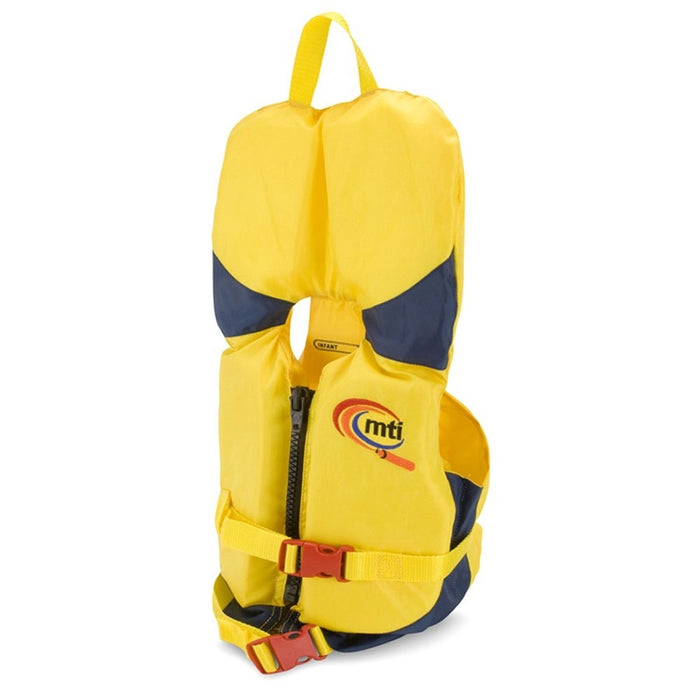 MTI Infant w/ Collar Kid's Life Jacket PFD Yellow side
