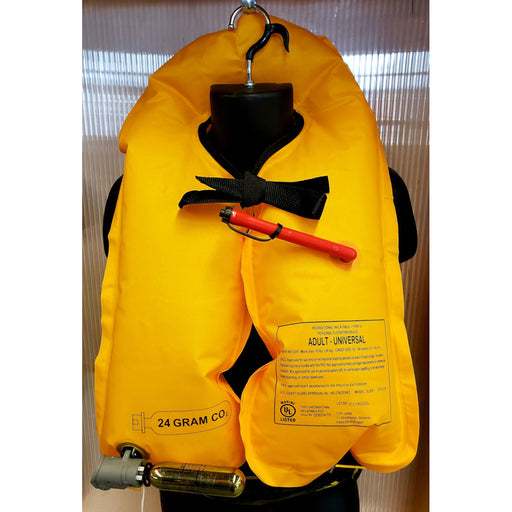 MTI SUP Safety Belt Inflatable PFD black inflated