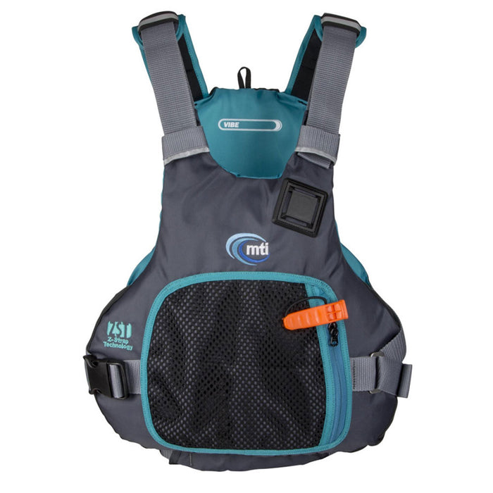 MTI Vibe Life Jacket PFD turquoise front