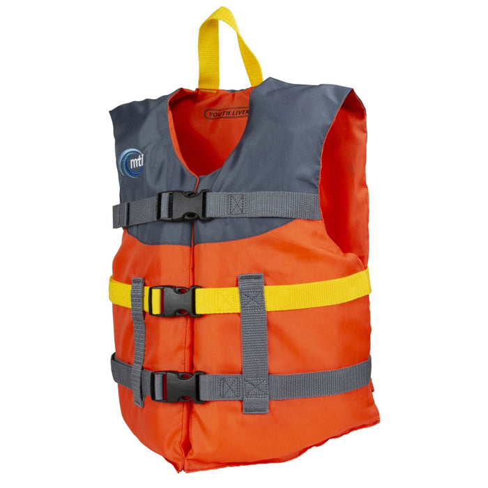 MTI Youth Livery Kid's Life Jacket PFD Orange side