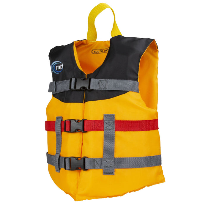 MTI Youth Livery Kid's Life Jacket PFD Mango side