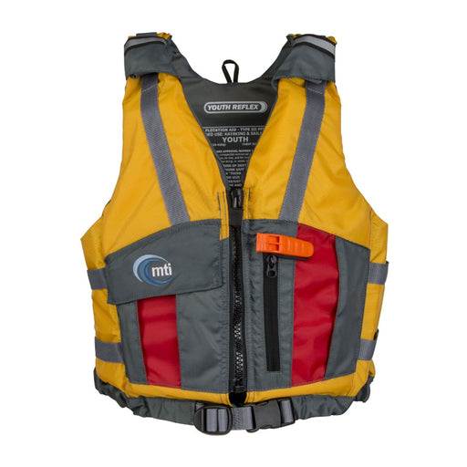 MTI Youth Reflex Kid's Life Jacket PFD Yellow Front