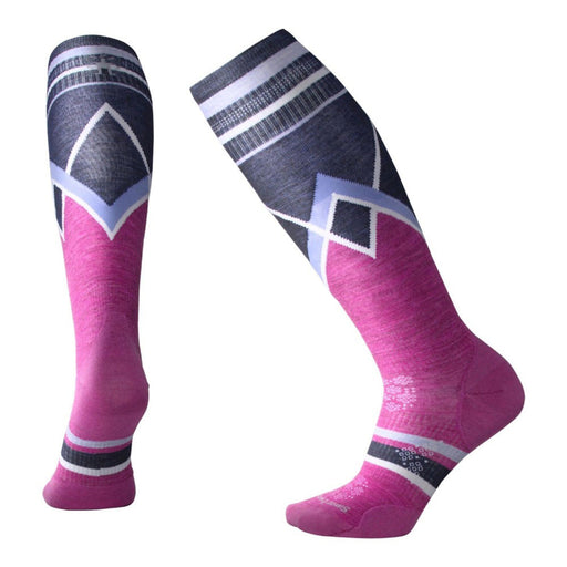 Smartwool PHD Ultra Light Women's Ski Socks - Purple/Blue