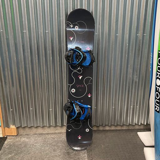Spice Floral Snowboard w/ Bindings - USED