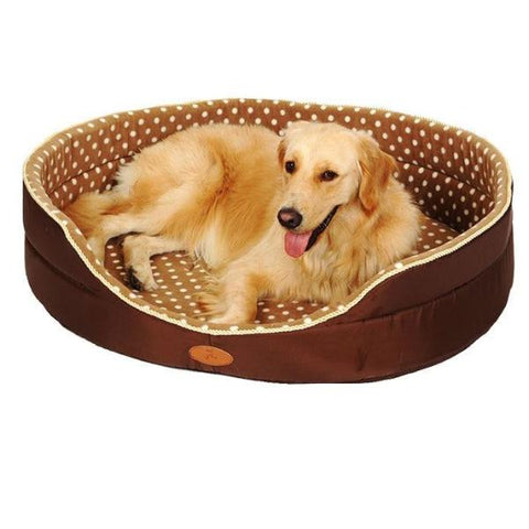Brown Patterned Dog Sofa