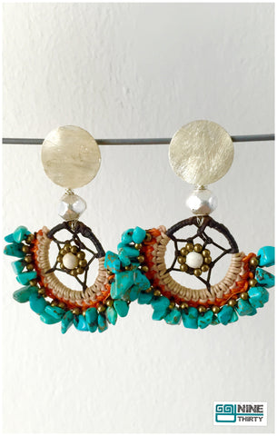 Queen Soma Earring (Turquoise Chips)
