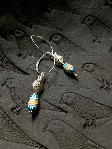 African Trade Beads earrings