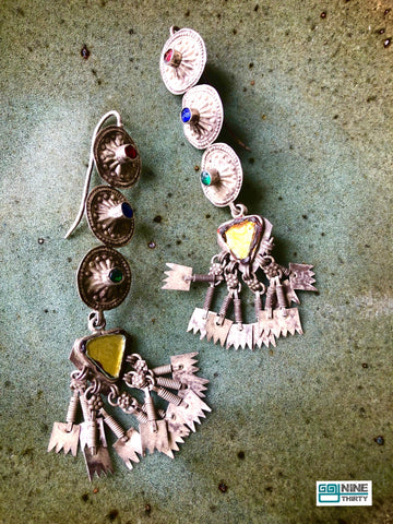 Dhunuchi earrings