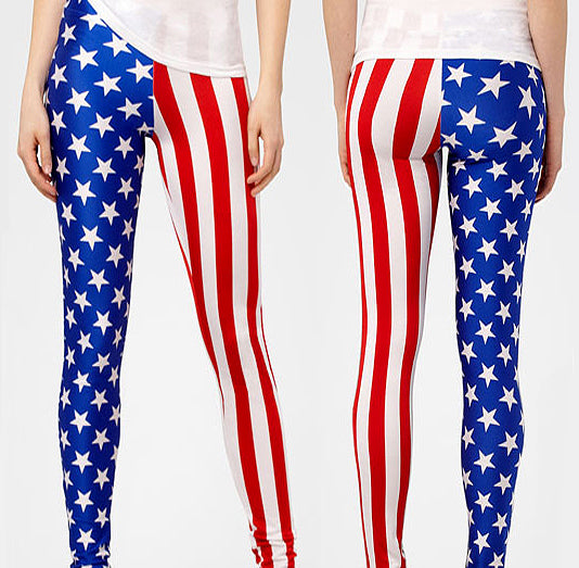stars and stripes leggings red white and blue ship for free in time for independence day