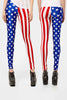 US American Flag Spandex Leggings - Elastic Wonder - 2