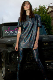 Avatar Hologram Leggings & Top Co-Ord Two Piece Set - ElasticWonder.com
