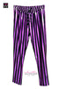 Slouchy Metallic Stripes Spandex Track Pants - Elastic Wonder - 4