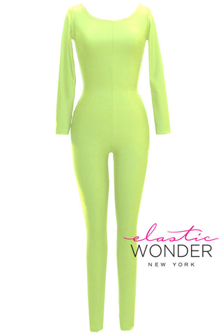 Basic Collection Neons Soft Sheen And Matte Finish Spandex Bodysuit