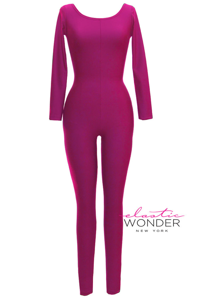 Basic Collection Pastels Yellows & Pinks Matte Spandex Bodysuit - ElasticWonder.com