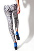 Two Tone Leopard Animal Print Spandex Leggings - Elastic Wonder - 3