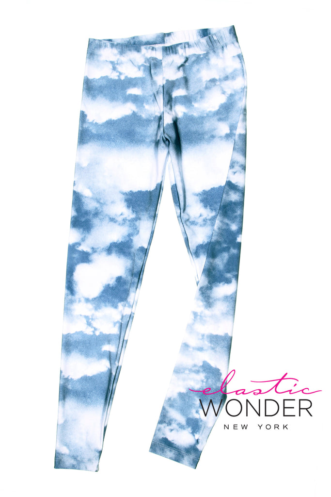 Light Clouds Photo Spandex Leggings - ElasticWonder.com