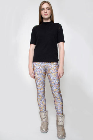 In Stock Cash Money Coin Photo Print Spandex Leggings