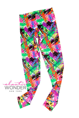 Crazy Neon Painter Spandex Leggings