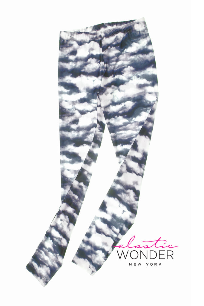 Dark Clouds Photo Spandex Leggings - ElasticWonder.com