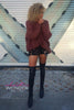 Thigh High Vinyl Stretch Spandex Nylon Over Knee Socks Leg Warmer Pair Leggings - ElasticWonder.com