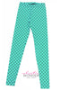 Fish Scale Mermaid Printed Spandex Leggings - Elastic Wonder - 6