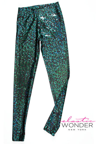 Hologram Leopard Animal Print Spandex Leggings