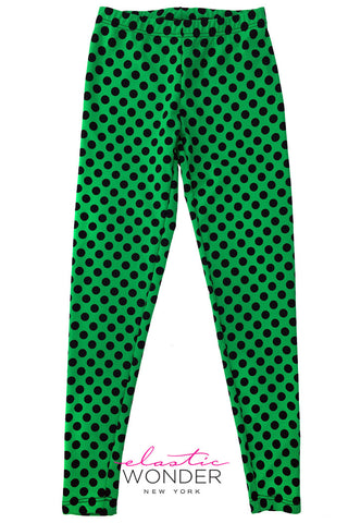 Polka Dot Printed Spandex Leggings
