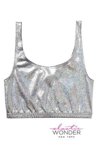 Holographic Dot Spandex Bra Top