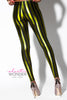 Metallic Stripes Spandex Leggings - ElasticWonder.com