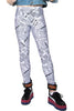 In Stock News Paper Print Spandex Leggings - ElasticWonder.com