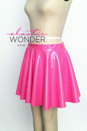 4-Way Stretch Vinyl Circle Skirt - ElasticWonder.com