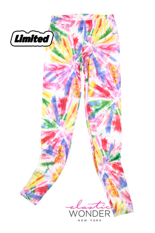 Watercolor Tie Dye Spandex Leggings