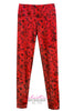 Roses Photo Printed Wide Elastic Waist Nylon Spandex Leggings - ElasticWonder.com