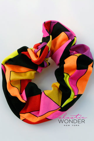 Pucci Pattern Scrunchie Retro 80s Hair Accessory