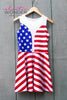 American Flag Stars And Stripes Skater Dress - ElasticWonder.com