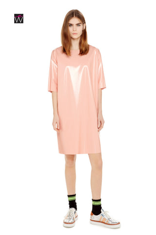 Women's 4-Way Stretch Vinyl Pocketed Tunic Dress