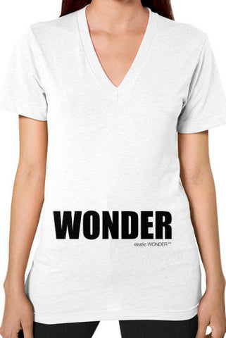 V-Neck Woman's 100% Cotton Jersey WONDER T-Shirt