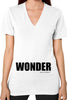 V-Neck Woman's 100% Cotton Jersey WONDER T-Shirt - ElasticWonder.com