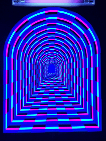 Neon Tunnel Tapestry