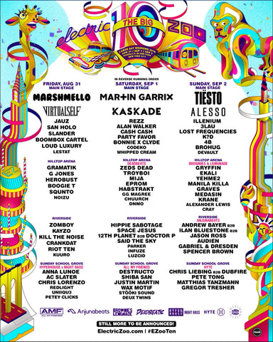 Electric Zoo Headliners