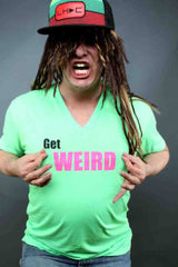 Get Weird Mens V-Neck - Electro Threads™